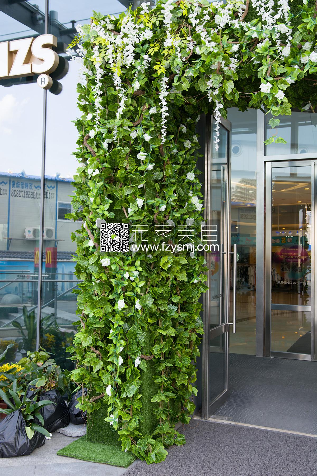 羽画-植物墙门头装饰案例03